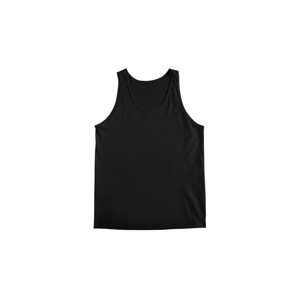 493da28b7d Regata Preta Lisa 100% Algodão Masculina - Atacado de Camisetas