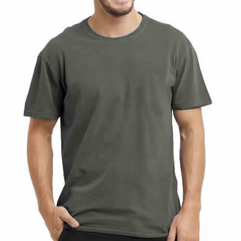 Camiseta Estonada Cinza - 100% Algodão Masculina ac9c7e4352a
