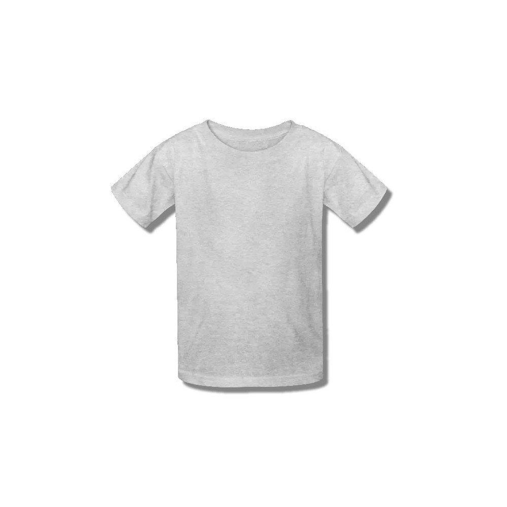 Camiseta Infantil Cinza Mescla 100% Algodão - Atacado de Camisetas 633a92338c1