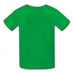 Camiseta Infantil Verde -...