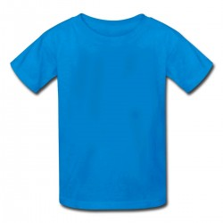 Camiseta Infantil Azul -...