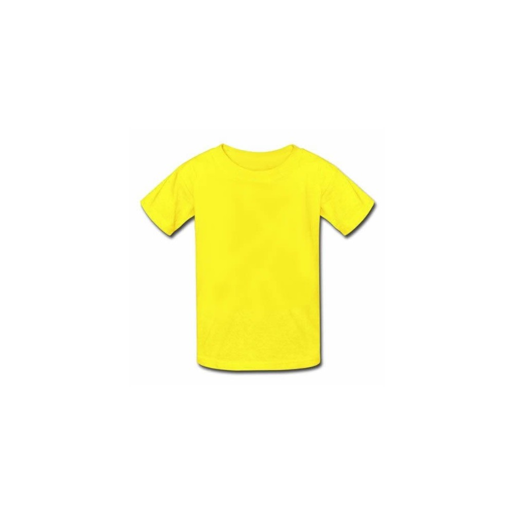 Camiseta Infantil Amarela 100% Algodão - Atacado de Camisetas a2af00ac891