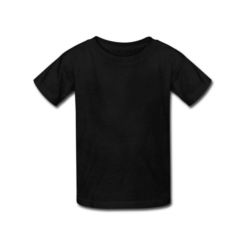 Camiseta Infantil Preta 100% Algodão - Atacado de Camisetas 9971a94f4f7