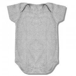 Body Infantil Cinza Mescla