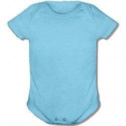 Body Infantil Azul Bebê -...