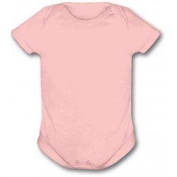 Body Infantil Rosa Bebê -...