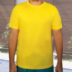 Camiseta Amarela Básica -...