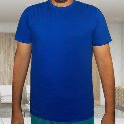 Camiseta Azul Básica - Algodão