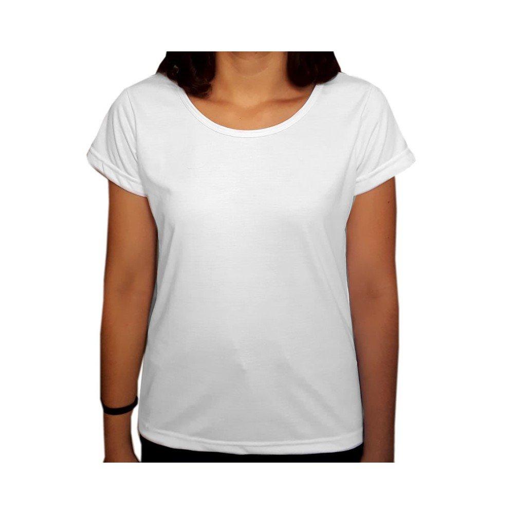 Camiseta lisa infantil 100% algodão - Azul