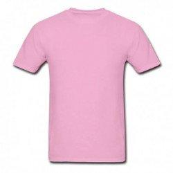 Camiseta Rosa Básica - Algodão