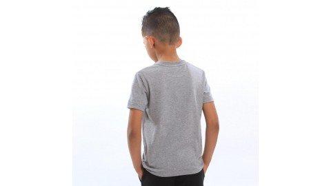 Camisetas infantis cinza mescla